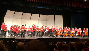 Middle School Honors Orchestra Making News