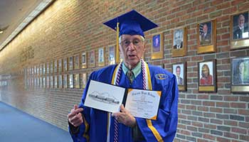 Gahanna Veteran has Joy of Diploma in Hand