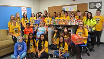 Gahanna Middle School West Collects for GRIN