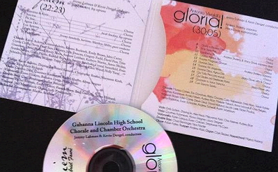 Image: GLHS CD recording of GLORIA!