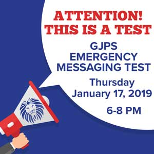 Message testing on January 17