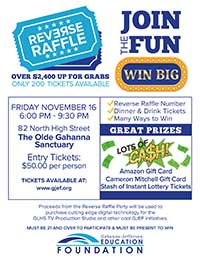 Information about the GJEF Reverse Raffle