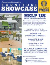 Furniture Showcase at Blacklick Elementary. Click for flyer.