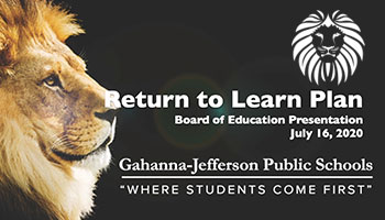 Return to Learn Board of Education Presentation