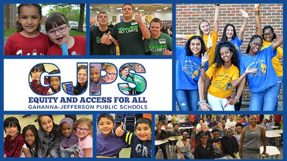 Collage of diverse students with Equity and Access for All Logo
